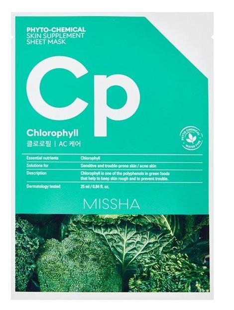 Missha Phyto-Chemical Sheet Mask CP Chlorophyll Maseczka do twarzy w płachcie