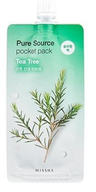 Missha Pure Source Pocket Pack TEA TREE Oczyszczająca maseczka na noc 10ml