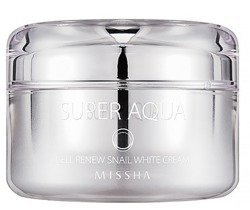 Missha Super Aqua Cell Renew Snail White Cream Rozjaśniający krem do twarzy 47ml