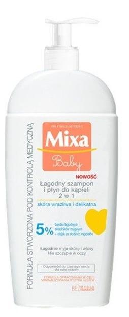Mixa Baby Łagodny szampon i płyn do kąpieli 2w1 250ml