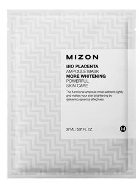 Mizon Bio Placenta Ampoule Mask More - Nawilżajaca Bio maska silnie skoncentrowana z Placenta 27ml