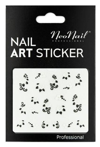 NEONAIL Naklejki na paznokcie Black&white  2804-21