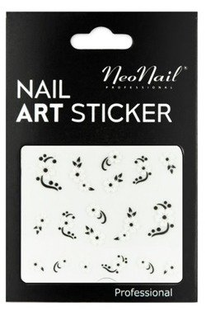 NEONAIL Naklejki na paznokcie Black&white  2804-28