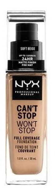 NYX Can't Stop Won't Stop Długotrwały podkład kryjący 07,5 Soft beige 30ml