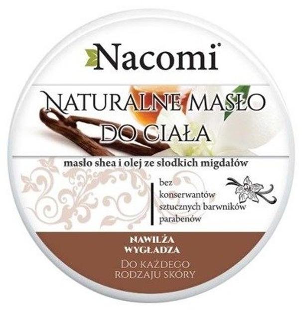 Nacomi Naturalny balsam do ciała z masłem Shea i olejem ze słodkich migdałów 100ml