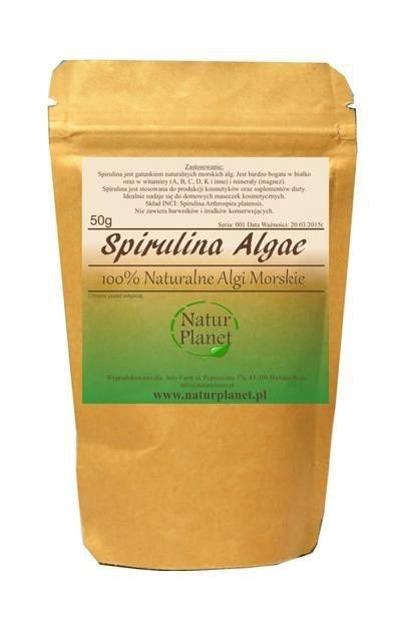 Natur Planet 100% Naturalne Algi Morskie Spirulina 50 g