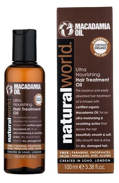 Natural World Macadamia Oil Odżywczy olejek do włosów 100ml