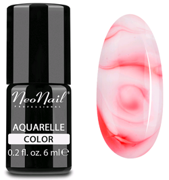 NeoNail Aquarelle Lakier 5753 - Red Aquarelle - Lakier hybrydowy do paznokci o akwarelowym wykończeniu
