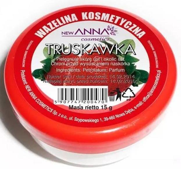 New ANNA Wazelina kosmetyczna truskawka 15g