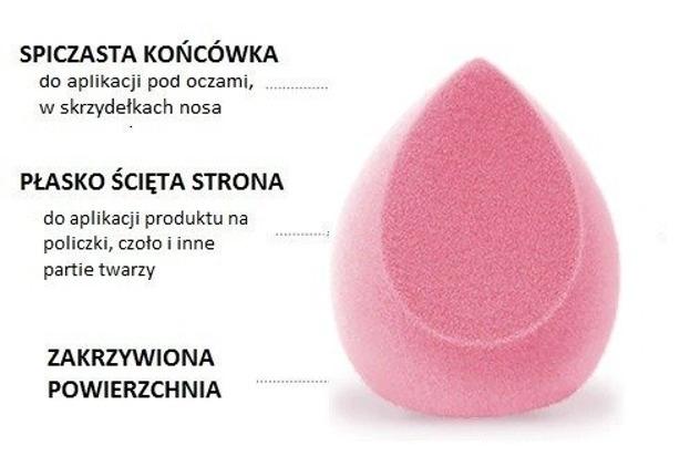 OTWOO O.TWO.O Gąbka do makijażu z mikrofibry VELVET RÓŻOWA WELUR