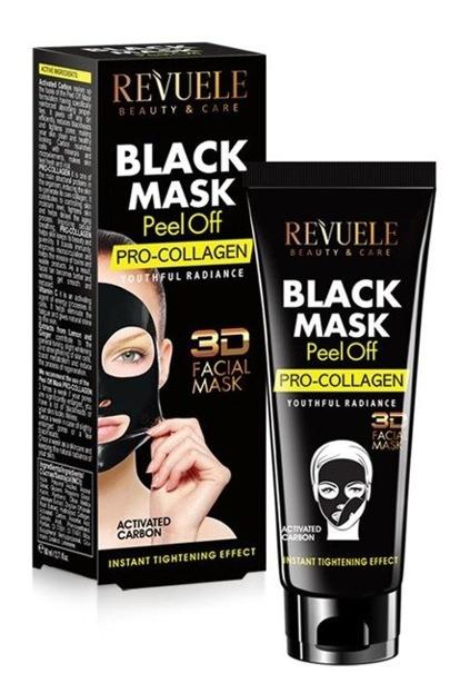 Revuele Black Mask 3D Collagen Maska peel-off do twarzy 80ml