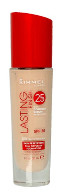 Rimmel Lasting Finish 25h Długotrwały podkład do twarzy 010 Light Porcelain 30ml