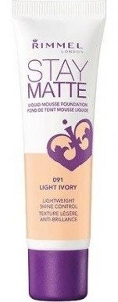 Rimmel Stay Matte Liquid Mousse Foundation - Podkład matujący do twarzy 091 Light Ivory 30ml