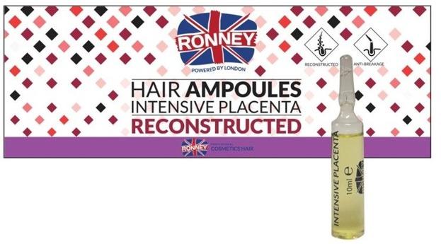 Ronney Hair Ampoules Intensive Placenta Ampułki do włosów 12szt.