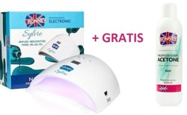 Ronney Lampa Sylvie 48W + RED LIGHT LED + Aceton Basic 1000ml GRATIS