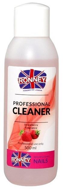 Ronney Professional Nail Cleaner Strawberry Płyn do odtłuszczania paznokci 500ml