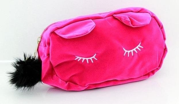 Różowa kosmetyczka Kot