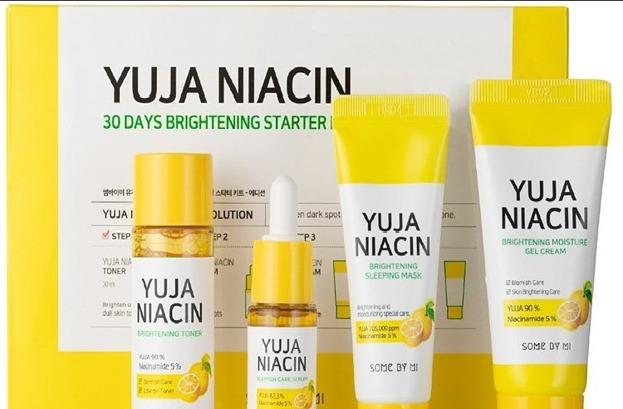 SomeByMi YUJA NIACIN 30days Brightening Solution 4 - Step Kit mini zestaw na przebarwienia