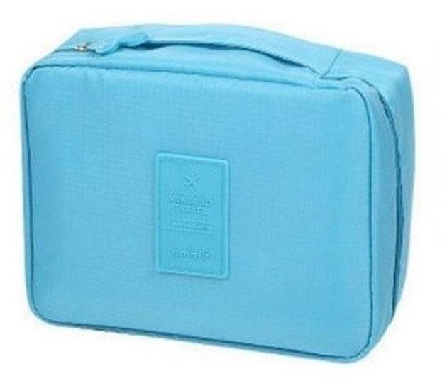 TRAVEL Kosmetyczka podróżna Kuferek 3162 Niebieski