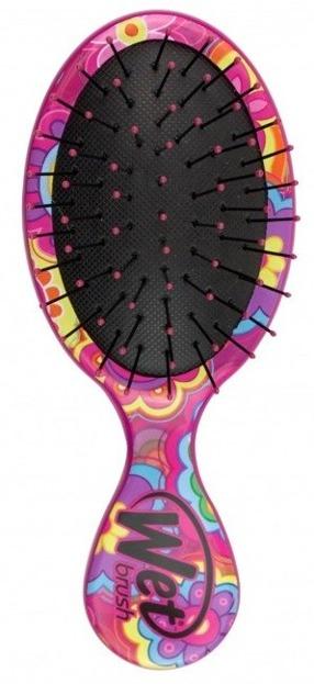 Wet Brush Szczotka do włosów MINI Różowa Stokrotki
