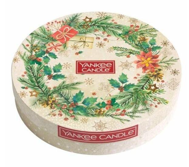 Yankee Candle Zestaw Magical Christmas 18 tealightów+świecznik