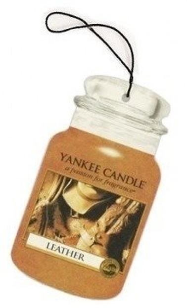 Yankee Candle car jar Odświeżacz samochodowy Leather 1szt