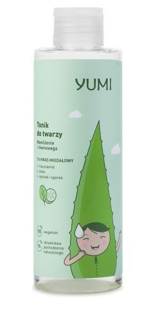 Yumi Nawilżenie i równowaga Tonik 3% kwas migdałowy 200ml